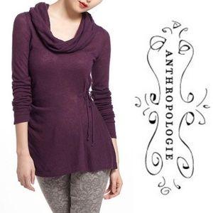 Rosie Neira Jemima Cowl Neck Purple Wool Sweater M
